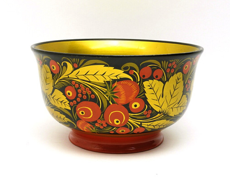 Classic Vintage Khokhloma Serving Bowl