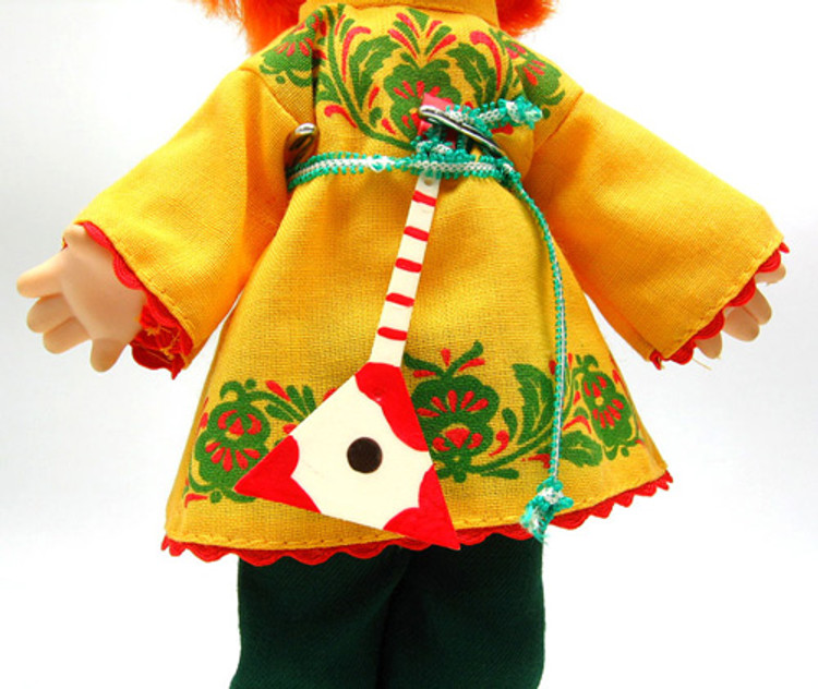 Boy in a Russian Traditional Costume Doll