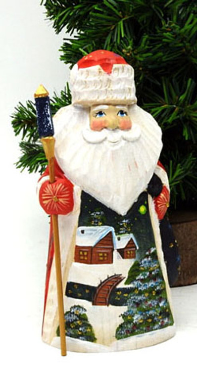 Grandfather Frost with Village Scene