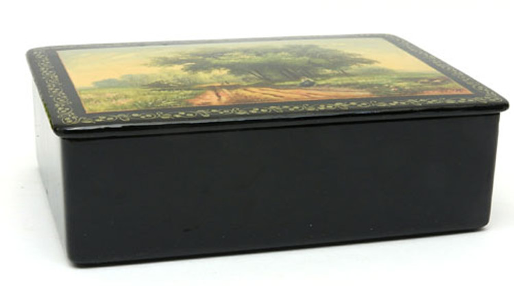 "Fedoskino ""Summer"" Lacquer Box 1948"