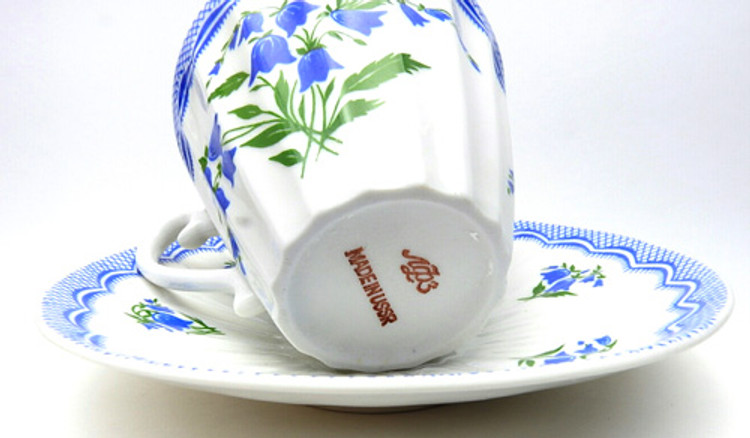 Bluebells Tea Cup and Saucer [Vintage]