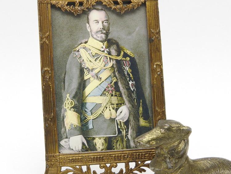 Tsar Nicholas II with Borzoi