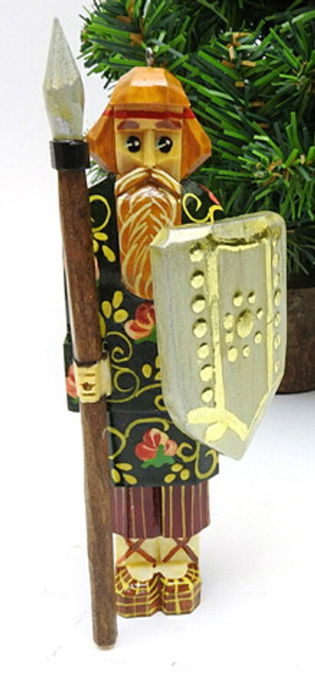 Medieval Russian Warrior Hand Made Ornament