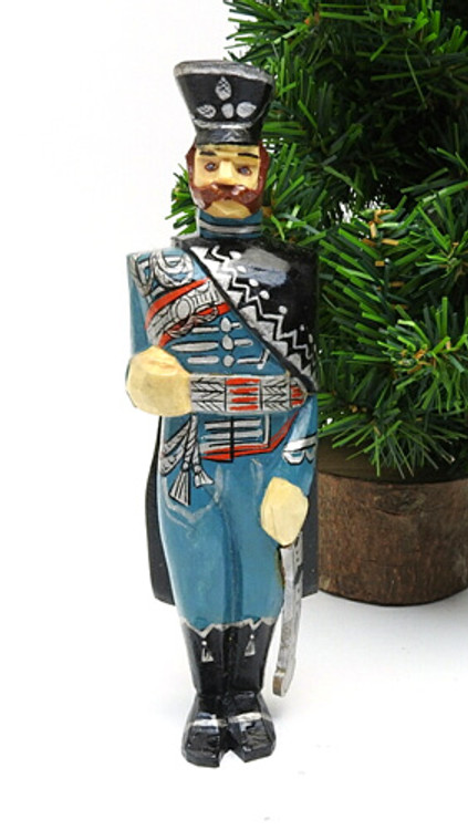 Russian Cavalry Officer Hand Made Ornament
