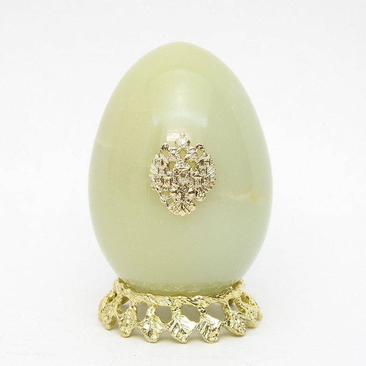 Onyx Imperial Russian Eagle Egg 584