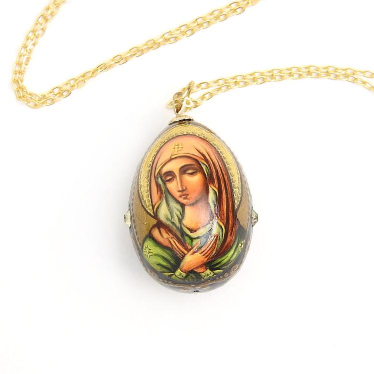 Egg Pendant Rejoice O Virgin Bride (Радуйся, Невеста Неневестная)
