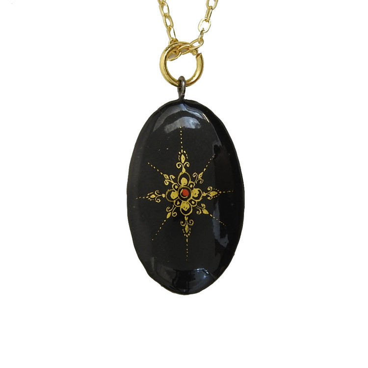 Miniature Icon Pendant Mother of God