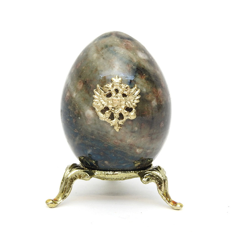 Marble Imperial Russian Eagle Egg M10