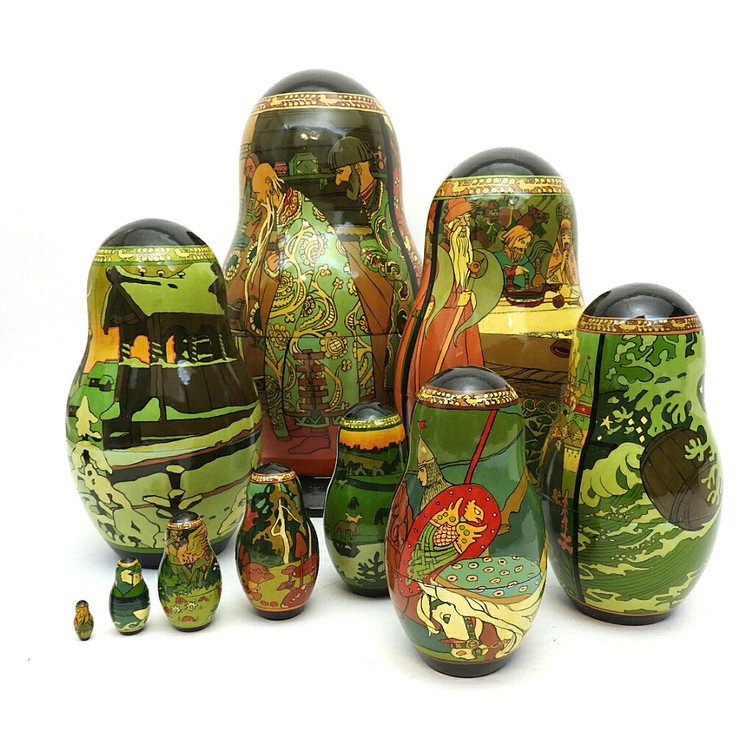 Tsar Saltan Bilibin Artistic Matryoshka  All Back