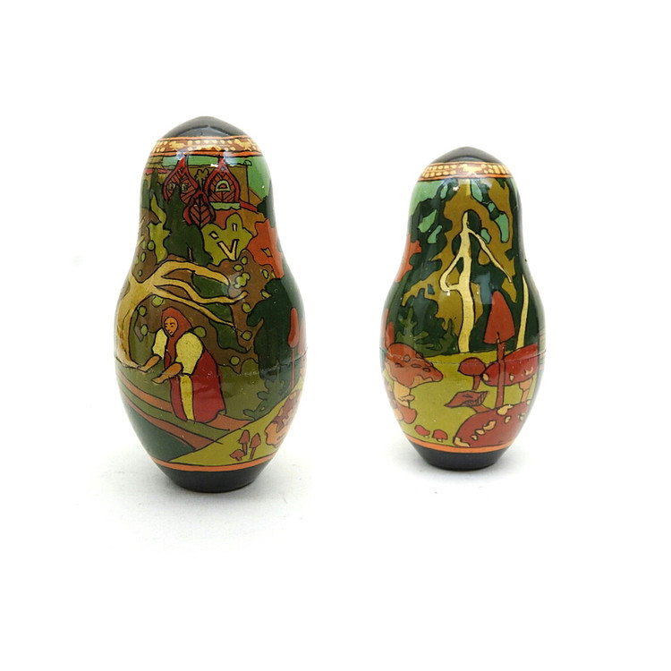 Tsar Saltan Bilibin Artistic Matryoshka  7th Doll Front and Back