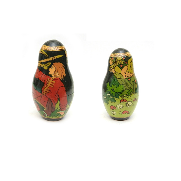 Tsar Saltan Bilibin Artistic Matryoshka  8th Doll Front and Back