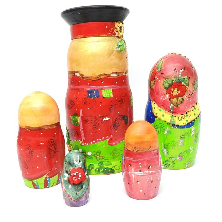 Village Family Artistic Matryoshka Doll