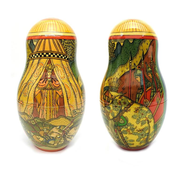 Bilibin Fairy Tales Illustrations Artistic Matryoshka 3rd Doll Two Views