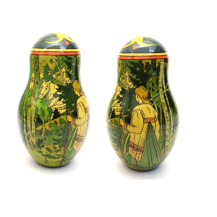 Bilibin Fairy Tales Illustrations Artistic Matryoshka 4th Doll Two Views