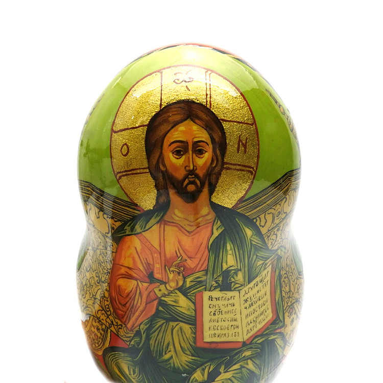 Russian Orthodox Icons (Русские православные иконы) Matryoshka First Doll with Icon of Jesus Christ Pantocrator