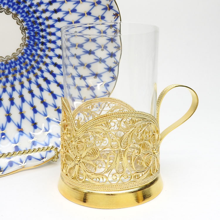 Daisy (Маргаритка) Filigree Tea Glass Holder