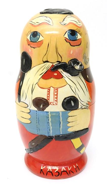 Zaporozhye Cossack Artistic Matryoshka (Запорожский казак)