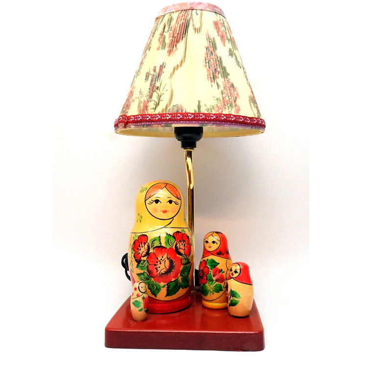 Vyatka Matryoshka Nesting Doll Desk Lamp
