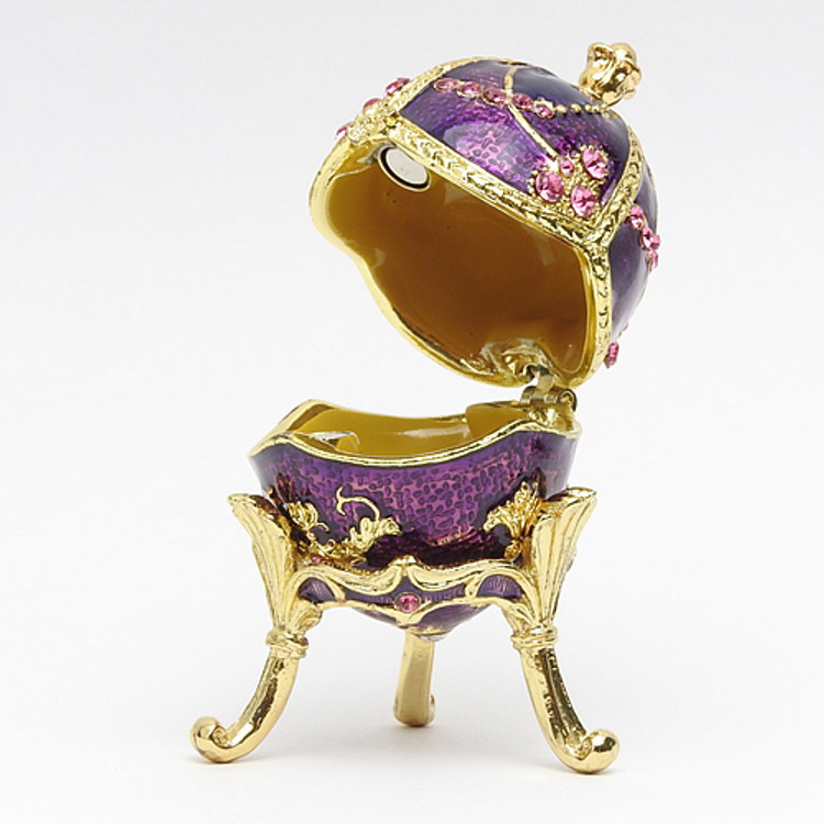 "Elegant Royal Purple Egg Box [2½""]"
