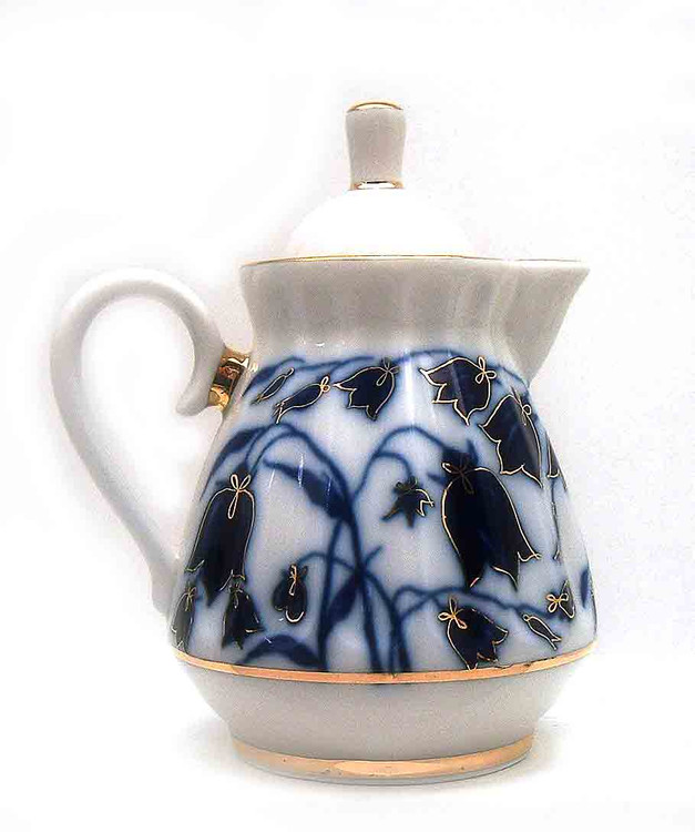 Blue Bells Creamer with Lid