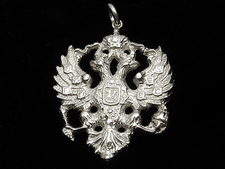 Sterling Silver Double-Headed Eagle Pendant