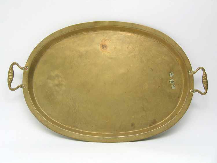 Vintage Brass Serving Tray Ivanov Factory