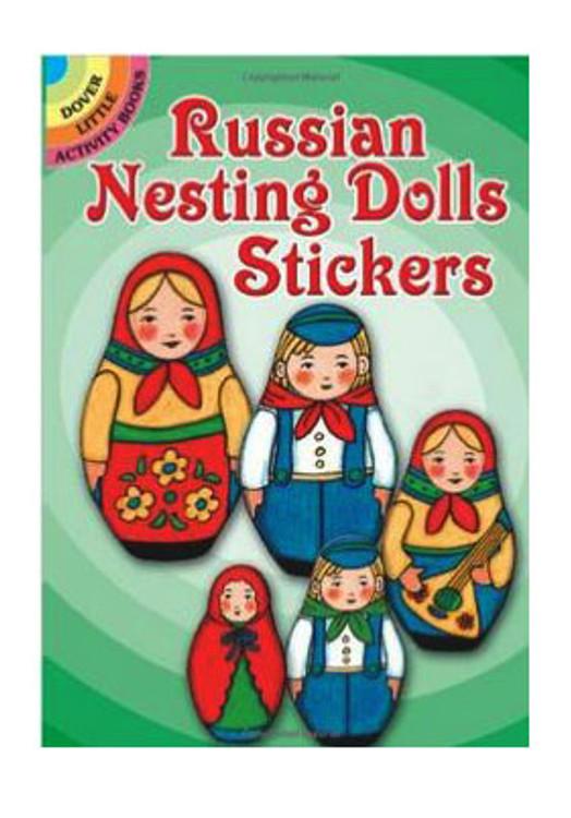 Full-color Russian Matryoshka stickers