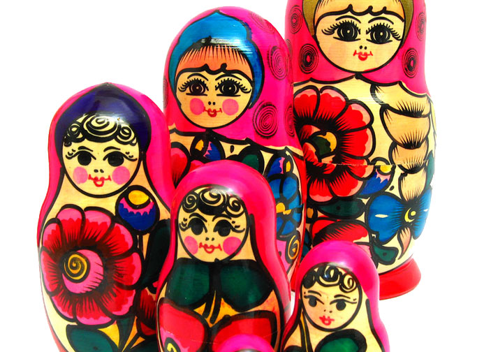Collectible Nesting Dolls from Polkhovsky Maidan