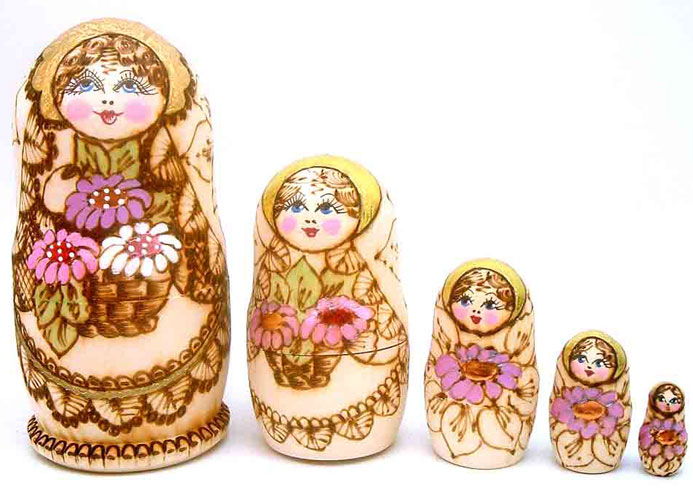 Collectible Nesting Dolls from Sergiev Posad and Tver
