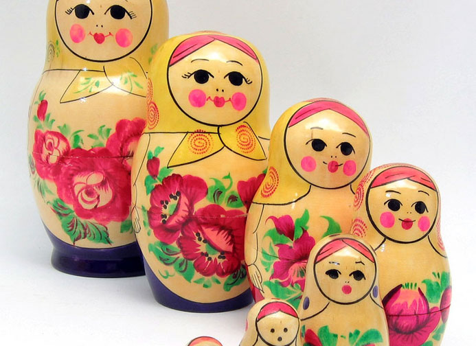 Collectible Nesting Dolls from Kirov, Vyatka and Nolinsk
