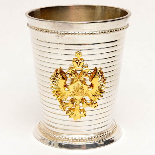 """Russian Imperial Glass Egg Double Headed Eagle and Russian Czar Nicholas II 4/"""""""