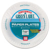 "AJM Packaging Corporation Paper Plates, 9"" Diameter, White, 100/Pack, 12 Packs/Carton (AJMPP9GRAWH)"