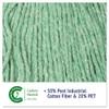 Boardwalk Super Loop Wet Mop Head  Cotton Synthetic Fiber  5  Headband  Large Size  Green  12 Carton (BWK503GNCT)