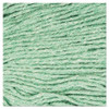 Boardwalk Super Loop Wet Mop Head  Cotton Synthetic Fiber  5  Headband  Large Size  Green (BWK503GNEA)
