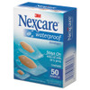3M Nexcare Waterproof  Clear Bandages  Assorted Sizes  50 Box (MMM43250)