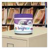 BRIGHT Air Super Odor Eliminator  Lavender and Fresh Linen  Purple  14 oz  6 Carton (BRI900014CT)