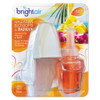 BRIGHT Air Electric Scented Oil Air Freshener Warmer and Refill Combo  Hawaiian Blossoms and Papaya (BRI900254EA)