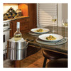 C-Line Wine By Your Side  Steel Frame Red Wine Adapter Ice Bucket  161 06 cu in  Stainless Steel (CLI20014)