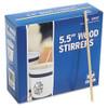 AmerCareRoyal Wood Coffee Stirrers  5 1 2  Long  Woodgrain  10000 Stirrers Carton (RPPR810CT)