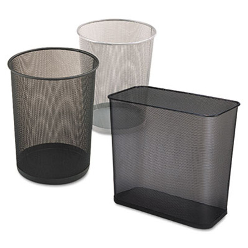 Rubbermaid Commercial Steel Mesh Wastebasket, Rectangular, 7.5gal, Black (RCP WMB30RBK)
