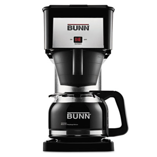 BUNN 10-Cup Velocity Brew BX Coffee Brewer, Black, Stainless Steel (BNN BXB)