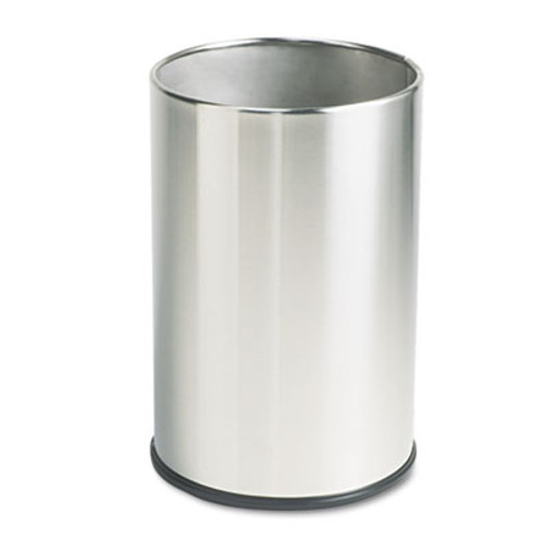 Rubbermaid Commercial European and Metallic Series Wastebasket  Round  5 gal  Satin Stainless (RCP UB1900SSS)