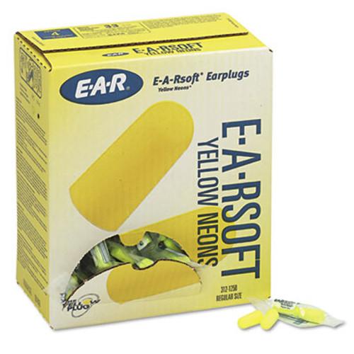 3M EA  AA  Rsoft Yellow Neon Soft Foam Earplugs  Uncorded  Regular Size  200 Pairs (MMM3121250)