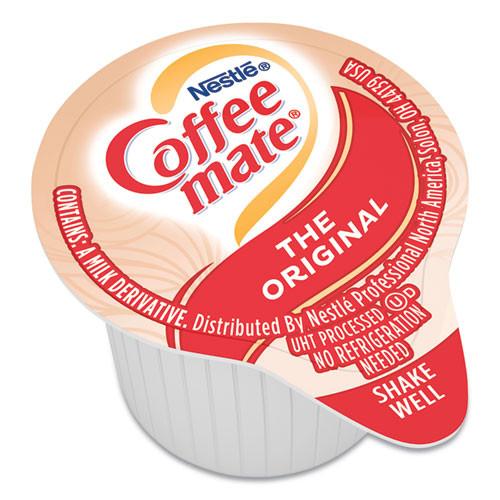 Coffee mate Liquid Coffee Creamer  Original  0 38 oz Mini Cups  50 Box (NES35110BX)