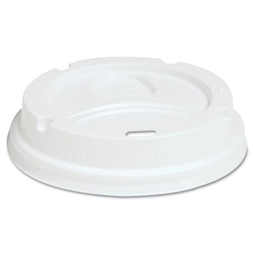 Dixie Dome Drink-Thru Lids  Fits 10  12  16oz Paper Hot Cups  White  1000 Carton (DIX D9542)