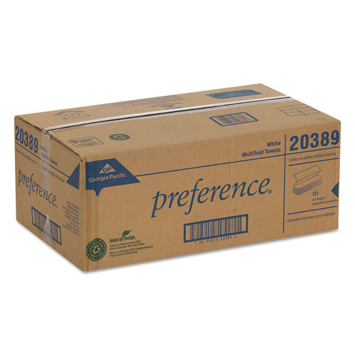 Georgia Pacific Professional Multifold Paper Towels  9 1 4 x 9 2 5  White  250 Pack  16 Packs Carton (GPC 203-89)
