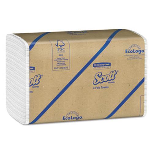 Scott Essential C-Fold Towels  Absorbency Pockets 10 1 8x13 3 20 White 200 PK 12 PK CT (KCC 01510)