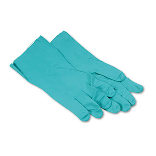 Boardwalk Nitrile Flock-Lined Gloves  X-Large  Green  Dozen (BWK 183XL)