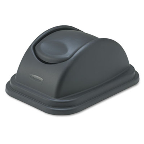 Rubbermaid Commercial Rectangular Free-Swinging Plastic Lids, Black (RCP 3067 BLA)