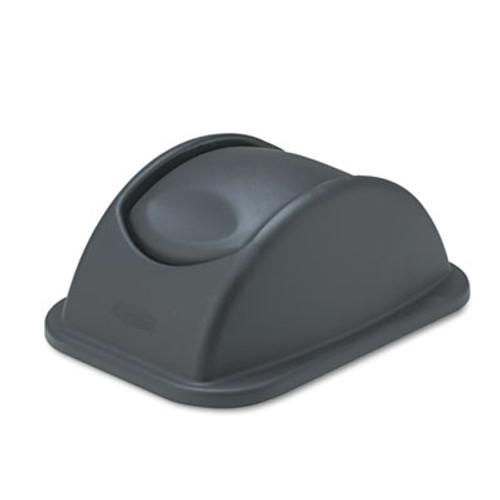 Rubbermaid Commercial Rectangular Free-Swinging Plastic Lids  Black (RCP 3066 BLA)